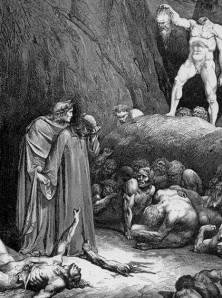 La Pena per i Scismatici secondo Gustave Doré ispirato da Dante:  preghiamo perché si ravvedano prima del Giudizio.