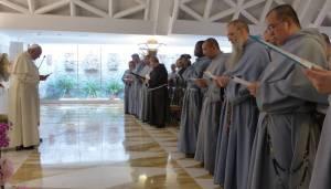 Papa Francesco coi FFI la scorsa settimana