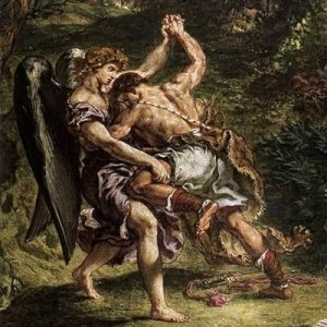 Giacobbe lotta coll'Angelo di Dio