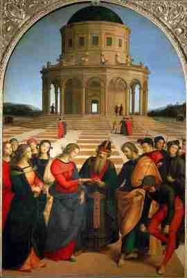 Raffaello Sanzio - Lo sposalizio della vergine