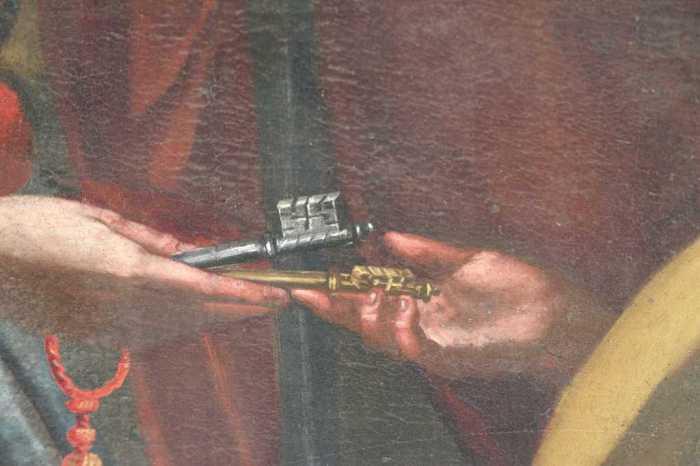 Francesco Canini - Consegna della Chiavi a San Pietro (part.) Pieve