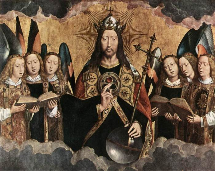 Hans Memling - Christ Surrounded by Musician Angels