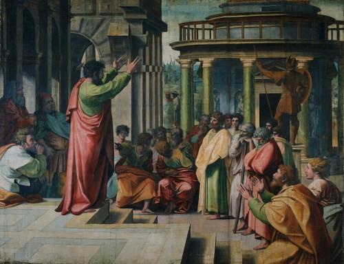 Raffaello Sanzio (e aiuti) - Predica di San Paolo