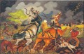 Semina con cavalli imbizzarriti dal temporale - Antonio Ligabue